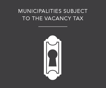 Municipalities subject to the vacancy tax